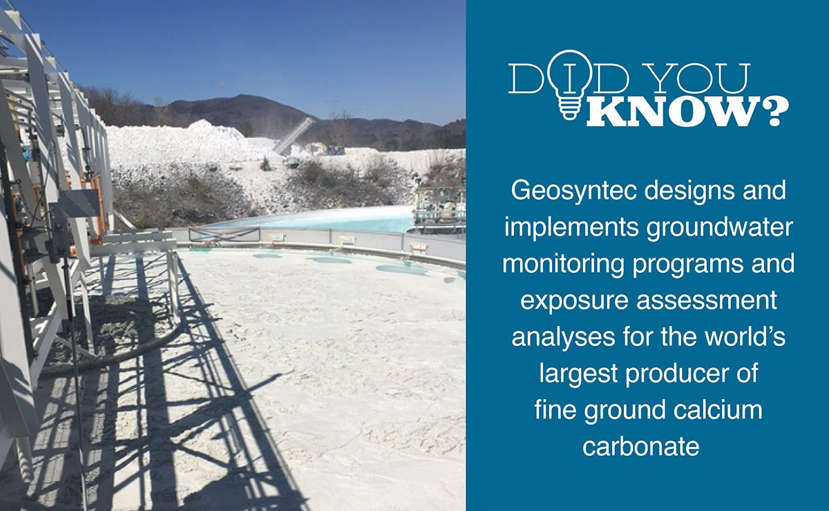 Geosyntec professionals developed a reputation as trusted independent experts while working with an energized stakeholder community regarding a high-profile marble processing facility.