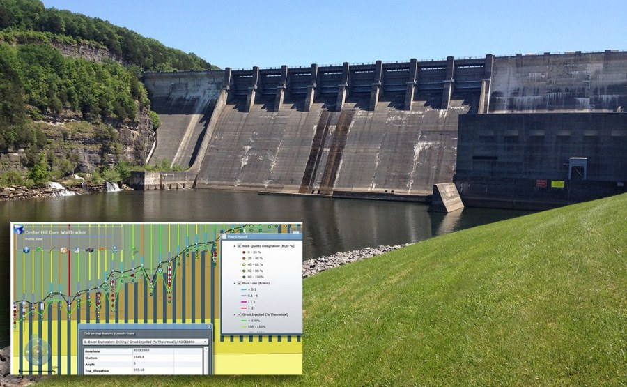 Geosyntec completed the information management system for the construction of multiple barrier wall dam retrofit projects using web-based applications that allowed real-time access to construction and instrumentation monitoring data.